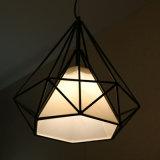 De hete Lamp van de Tegenhanger van het Ontwerp van de Veelhoek van de Verkoop Zwarte Eenvoudige voor het Project van het Hotel