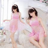고품질 여자는 최신 섹시한 란제리 레이스 성숙한 틴에이저 소녀 분홍색 성 브래지어 및 내복을 연다