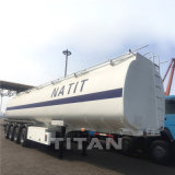 半石油タンカーのトレーラー4の車軸50m3 60cbmトレーラーのためのアルミニウム空気タンク66000リットルのアルミニウムディーゼル燃料タンクタンカーのトレーラーの