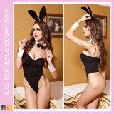 Женское бельё черной сексуальной девушки зайчика нижнего белья женщин Costume взрослый сексуальное