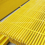 Le PRF GRP grille en plastique renforcé de fibre de verre pour la bande de roulement de l'escalier