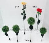 Solar-LED Lampen-Blume der Metallfertigkeit-