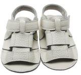 Venda mais quentes em pele de vaca Branco sandálias para bebé com Novo Design