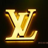 Poslished retroiluminación LED Signos LED al aire libre de acero inoxidable letras