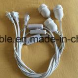 15m wasserdichtes Zeichenkette-Netzanschlusskabel der Lampen-E26