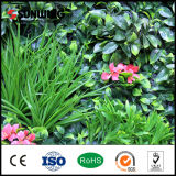 UV protegido Valla de plástico artificial de la hoja verde del jardín