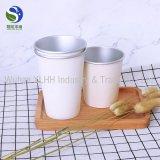 Taza de papel disponible impresa insignia de encargo con la tapa, tazas dobles del papel de empapelar con la tapa