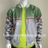 Qualité satin Fashion sublimé Varsity Jacket dans Service OEM
