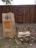 Bolsas de papel al aire libre de la basura de la hoja de la bolsa de papel de Kraft y de la basura del césped