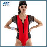 Способ Бикини костюма заплывания застежки -молнии женщин шнурка сексуальный