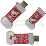 크리스마스 단화에 의하여 형성되는 선물 USB 섬광 드라이브 (S1A-2191C)