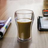 Tè fatto a mano di vetro del caffè doppio di Pyrex vetro fresco di vetro della spremuta