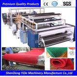 PVC 최신 용해 살포 두 배 색깔 차 지면 매트는 나사 플라스틱 밀어남 기계를 골라낸다