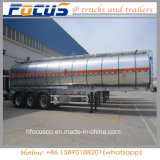 Adr/점 증명서 3 차축 알루미늄 연료 유조 트럭 세미트레일러