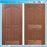 Färbung-Teakholz/natürliches geformte HDF Tür-Häute des Thailand-Teakholz-hölzernes Furnier-Blatt