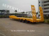 60t Low Bed Lowbody Cargo Truck Semi Trailer