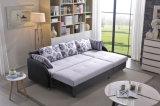 Base di sofà del tessuto dell'angolo della mobilia del salone con memoria