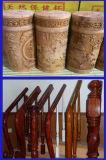 Grabador de madera circular del cortador del surtidor de China con el ranurador rotatorio del CNC