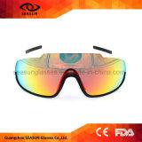 A forma polarizada ostenta Sunglasse para as mulheres dos homens, vidros para frames Running de ciclagem do PC da forma do basebol do golfe da pesca