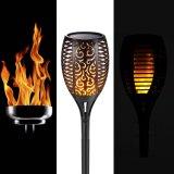 Lumière de clignotement solaire de torche de flamme de Veille de la toussaint DEL de voie de pelouse de yard de jardin
