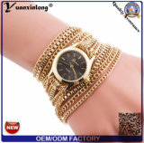 Yxl-780 Brand New Women Bracelet Bracelet en cuir Crystal Watch Long Chain Montres-bracelets Bijoux Luxury Ladies Gift Watch