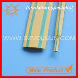 tubo dello Shrink di calore di 3:1 di verde giallo di 10mm