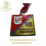 オンラインで卸し売りカスタムオリンピック円形浮彫りおよびトロフィの金属の連続したメダル