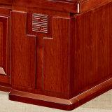 Tabela executiva do escritório da mesa do pé material natural da madeira contínua