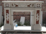 Het Europese Zandsteen van de Stijl/Wit Marmer/Travertijn Gesneden Open haard voor de Decoratie van het Huis