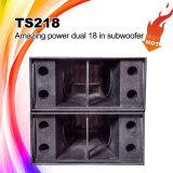 Ts218 Dual altofalante Subwoofer de 18 polegadas, caixa do altofalante