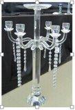 Titulares de vela de cristal para decoração de casamento com três postagens (H: 30cm)