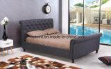 Король Кровать Спальня Мебель платформы ткани (OL1746)