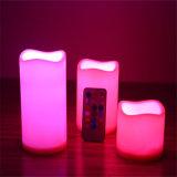 Flammenlose LED-Kerzen mit entfernter Station