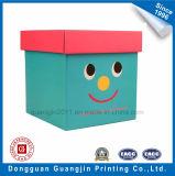 Boîte-cadeau rigide de sourire de fantaisie de papier de configuration de face