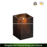 Ribbed Glass Votive Candle Holder for Home Decor