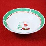 Ciotola di ceramica di colore verde di natale della Santa