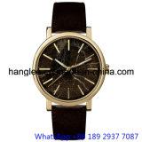 O relógio do mármore da alta qualidade, couro de Gnuine presta atenção a Hl-15128