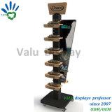 À la mode des chaussures de sport de présentoir en bois de métal/Stand pour les chaussures Store