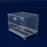 Transport et stockage de métal Wire Mesh conteneur en acier pliable