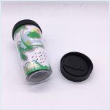 Кружка с полосой силикона, кружка кофеего тела PP пластичная, кружка белого кофеего крышки PE