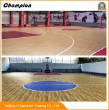 [بفك] أرضية الصين مصنع بيع بالجملة 100% فينيل أرضية خشبيّة حبة [أوسديندوور] ملعب مدرّج كرة الطائرة كرة سلّة [بدمينأيشن] محكمة