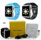 Relógio esperto impermeável do telefone do pulso de Bluetooth com ranhura para cartão de SIM (A1)