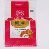 Impreso en color de la bolsa de plástico tejida PP BOPP bolsa de arroz