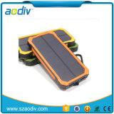 USB doble Banco de la energía solar linterna LED con llavero