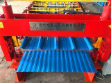 Doppelte Schicht-Metalldach-Rolle, die Maschine bildet