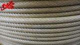 비 자전 직류 전기를 통한 철강선 밧줄 19X7 A1