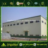 Edifício desobstruído do metal da construção do aço estrutural da luz da extensão