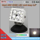 Boîtier blanc 40W phare de travail à LED pour navire de bateaux d'embarcations marines