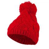 O inverno quente Diapered tricotado Beanie POM HAT