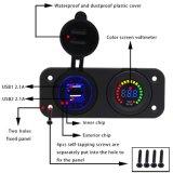 Imperméable 4.1A Adaptateur chargeur double USB et le voltmètre panneau LED 12V-24V